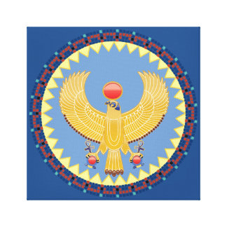 Horus, the God of Kings Wrapped Canvas Stretched Canvas Print