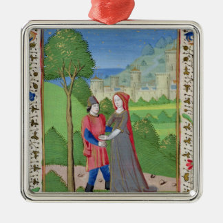 Hosea and the Prostitute, from the Bible Silver-Colored Square Decoration