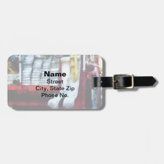 Hoses on Fire Truck Bag Tag