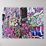 Hosier Lane Street Artwork - Melbourne, Australia Poster