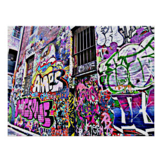 Hosier Lane Street Artwork - Melbourne, Australia Poster