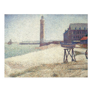 Hospice and Lighthouse, Honfleur by Georges Seurat Postcard