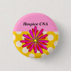 Hospice CNA Buttons Artsy and Whimsical Flower