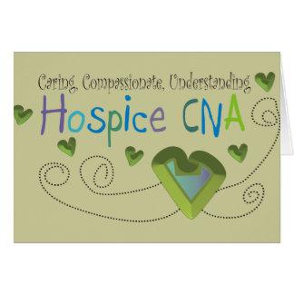 Hospice CNA Green Hearts Greeting Card
