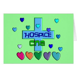 Hospice CNA Multi Hearts Design Greeting Card