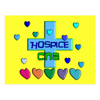 Hospice CNA Multi Hearts Design Postcard