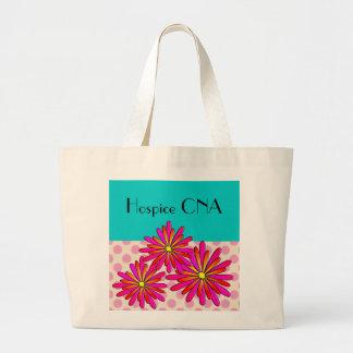 Hospice CNA Nursing Assistant Floral Jumbo Tote Bag