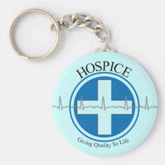 Hospice Gifts Basic Round Button Key Ring