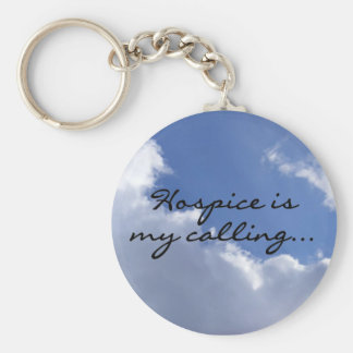 Hospice is My Calling Basic Round Button Key Ring