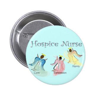 Hospice Nurse 3 Angels Design 6 Cm Round Badge