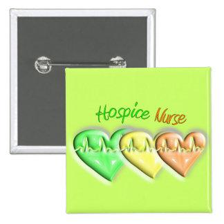 Hospice Nurse 3D Hearts 15 Cm Square Badge