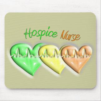 Hospice Nurse 3D Hearts Mouse Pad