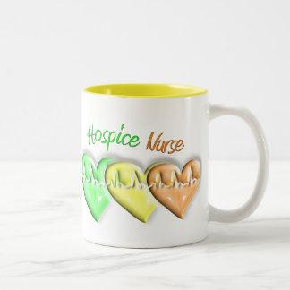 Hospice Nurse 3D Hearts Mugs