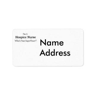 Hospice Nurse Address Label
