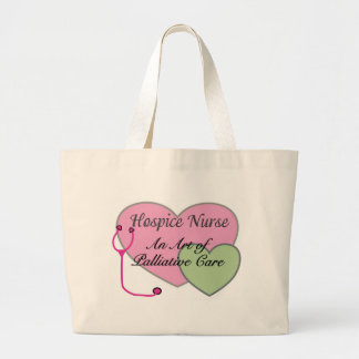 Hospice nurse an art of palliative care large tote bag