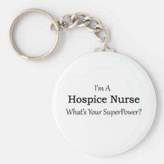 Hospice Nurse Basic Round Button Key Ring