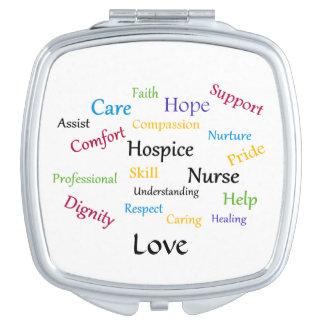Hospice Nurse Compact Mirror
