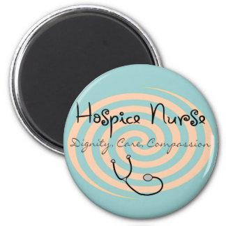 "Hospice Nurse ""Dignity Care Compassion"" 6 Cm Round Magnet"
