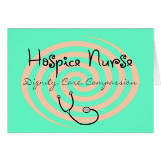 "Hospice Nurse ""Dignity Care Compassion"" Card"