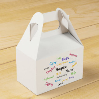 Hospice Nurse Gable Favor Box Wedding Favour Box