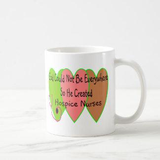 """Hospice Nurse """"God Could Not Be Everywhere"""" Basic White Mug"""
