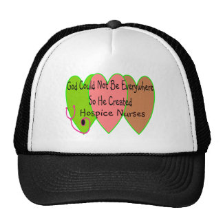 """Hospice Nurse """"God Could Not Be Everywhere"""" Mesh Hats"""