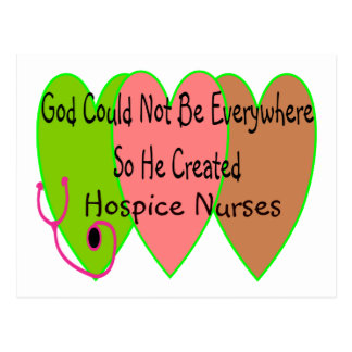 """Hospice Nurse """"God Could Not Be Everywhere"""" Postcard"""