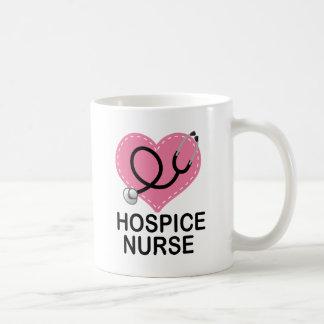 Hospice Nurse Heart Stethoscope Coffee Mugs