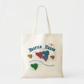 Hospice Nurse Multi Colored Hearts Canvas Bags
