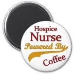 Hospice Nurse Powered By Coffee 6 Cm Round Magnet