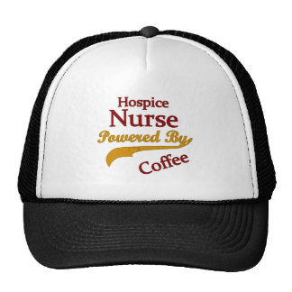 Hospice Nurse Powered By Coffee Trucker Hats