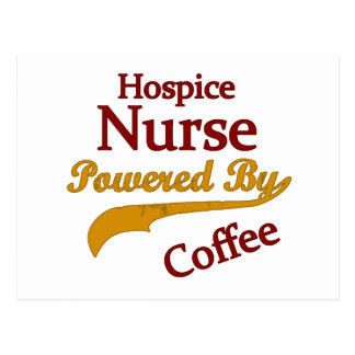 Hospice Nurse Powered By Coffee Postcard