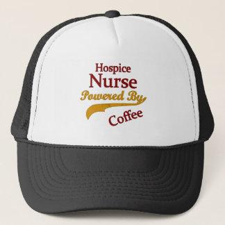 Hospice Nurse Powered By Coffee Trucker Hat