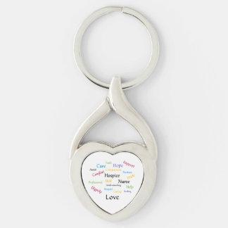 Hospice Nurse Twisted Heart Key Chain