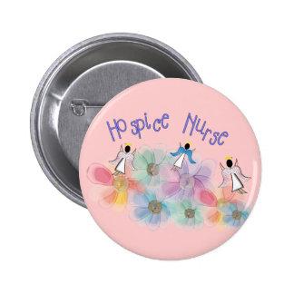 Hospice Nurse WHISPY Angels Design 6 Cm Round Badge