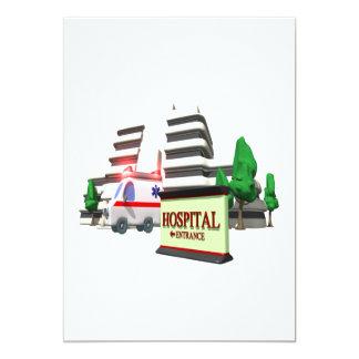 Hospital 13 Cm X 18 Cm Invitation Card