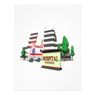 Hospital 21.5 Cm X 28 Cm Flyer