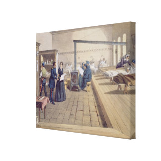 Hospital at Scutari, detail of Florence Nightingal Canvas Print