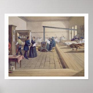 Hospital at Scutari, detail of Florence Nightingal Print