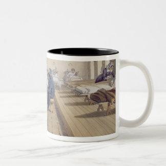 Hospital at Scutari, detail of Florence Nightingal Two-Tone Coffee Mug