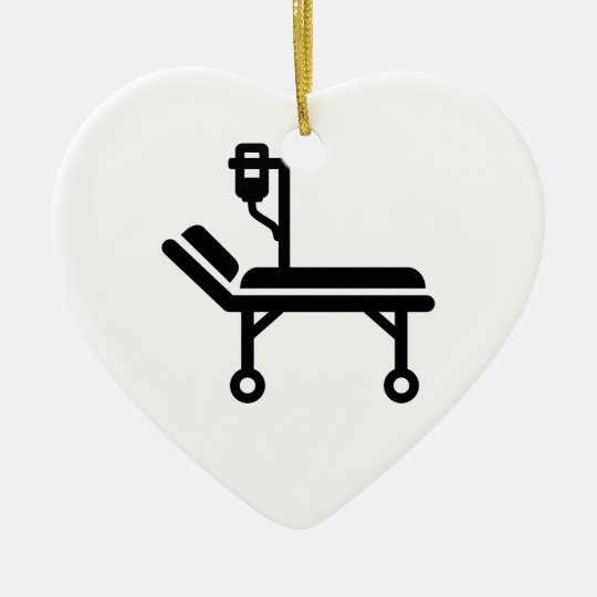 Hospital bed christmas ornament