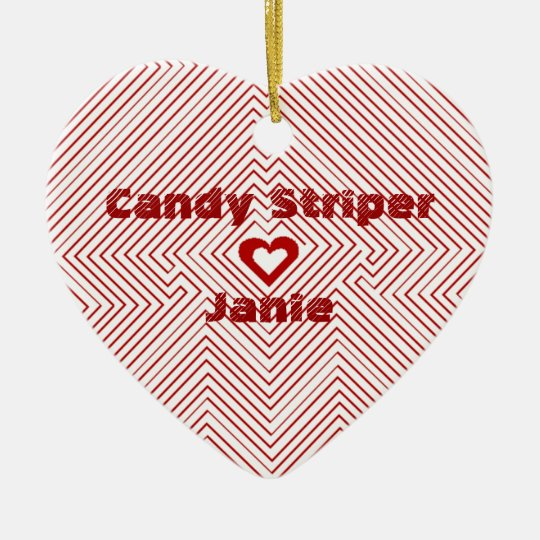 Hospital Candy Striper Gift Gifts Heart Ornament