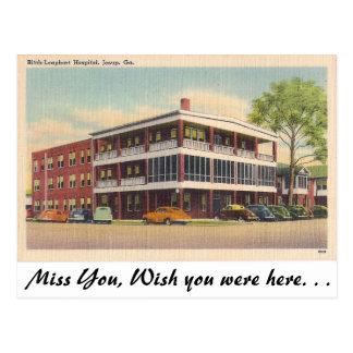 Hospital, Jesup, Georgia Postcard
