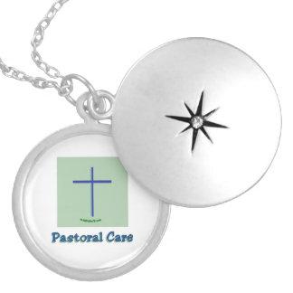 Hospital Pastoral Care Round Locket Necklace