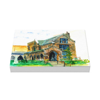 Hospitality Center Racine Wisconsin Watercolor Canvas Print