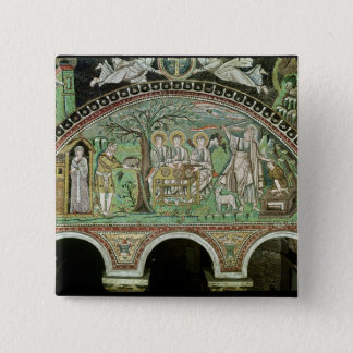 Hospitality of Abraham and the Sacrifice of 15 Cm Square Badge