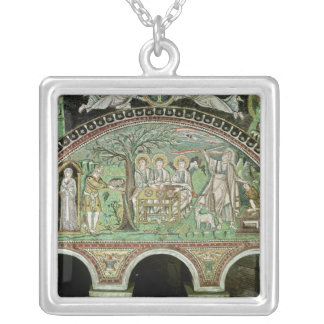 Hospitality of Abraham and the Sacrifice of Silver Plated Necklace