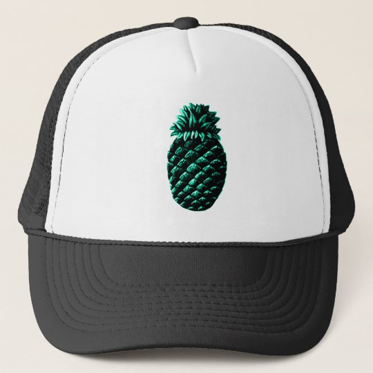 Hospitality Pineapple Cyan The MUSEUM Zazzle Gifts Trucker