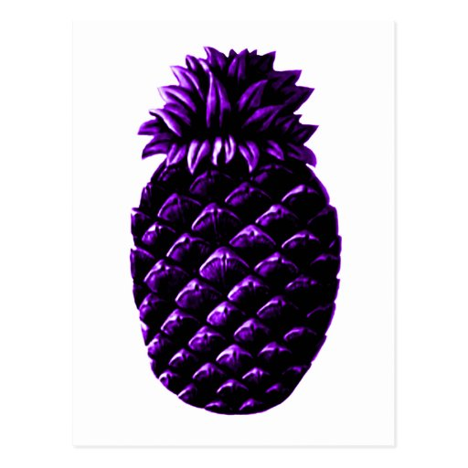 Hospitality Pineapple Purple The MUSEUM Zazzle Gif Post Cards