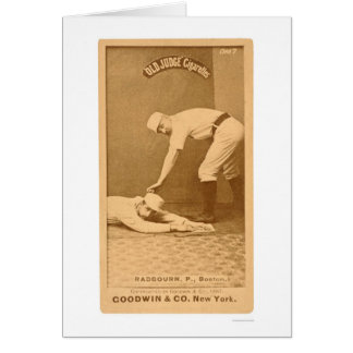 Hoss Radbourn Baseball 1887 Greeting Card